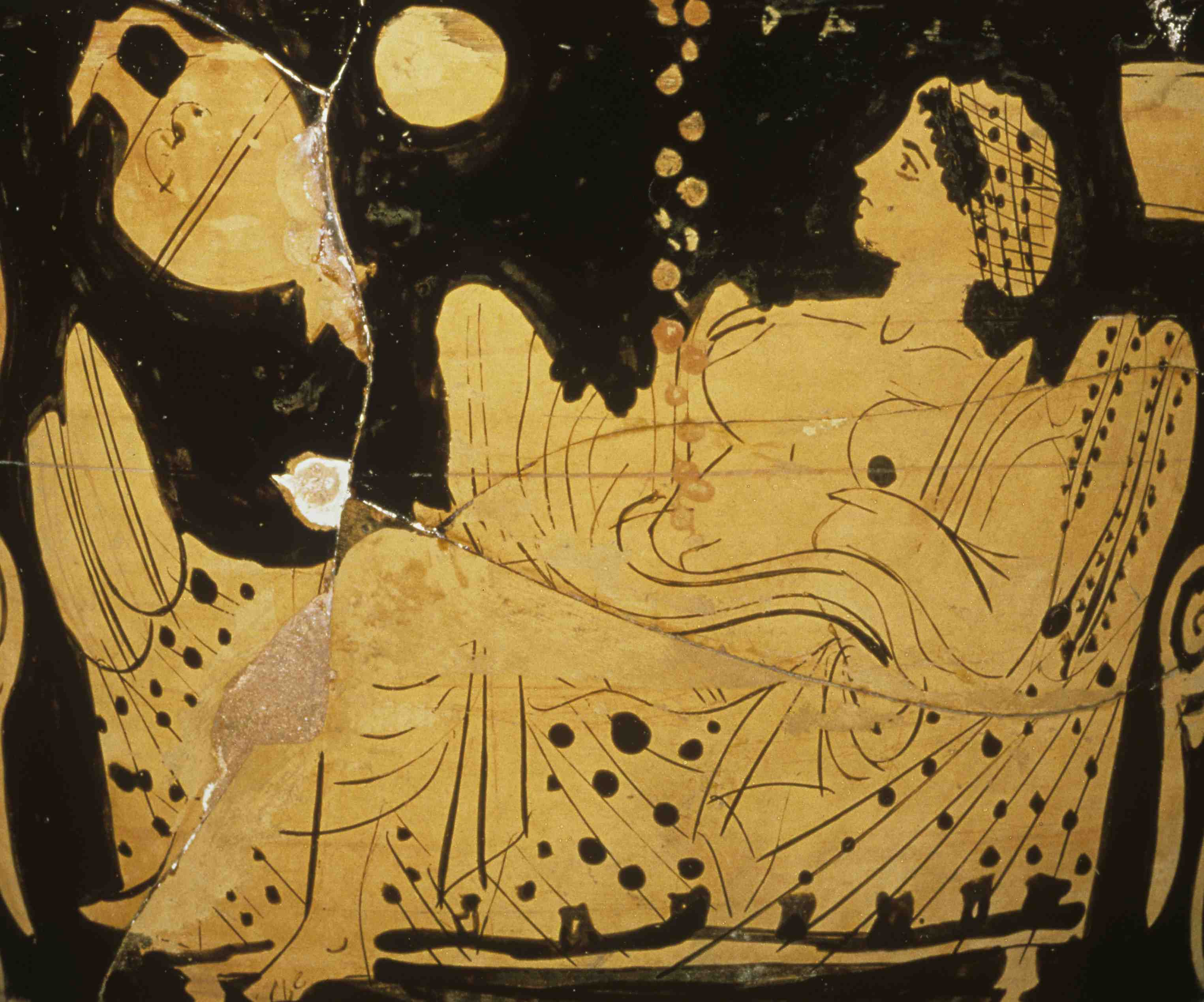 [Die Liebe der Danae] Danae and the shower of gold (detail)