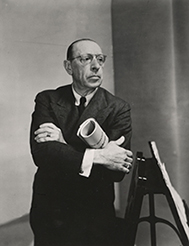 [Program EightThe Émigré in America] Igor Stravinsky, 1882-1971, Russian composer, photograph, 1949 