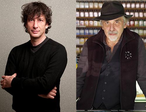 [Neil Gaiman in conversation with Art Spiegelman] Neil Gaiman, photo by Kimberly Butler. Art Spiegelman, photo by Enno Kapitza-Agentur Focus