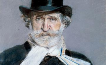 [Program Two:Sons of Bach, Sons of Palestrina] Portrait of Giuseppe Verdi by Giovanni Boldini, 1886