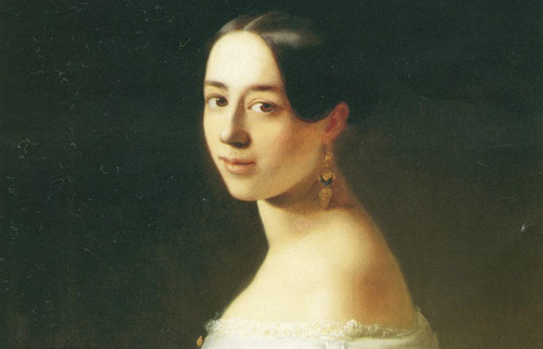 [Program EightChopin and the Salon] Pauline Viardot Garcia; by Timoleon von Neff. courtesy Polona Library
