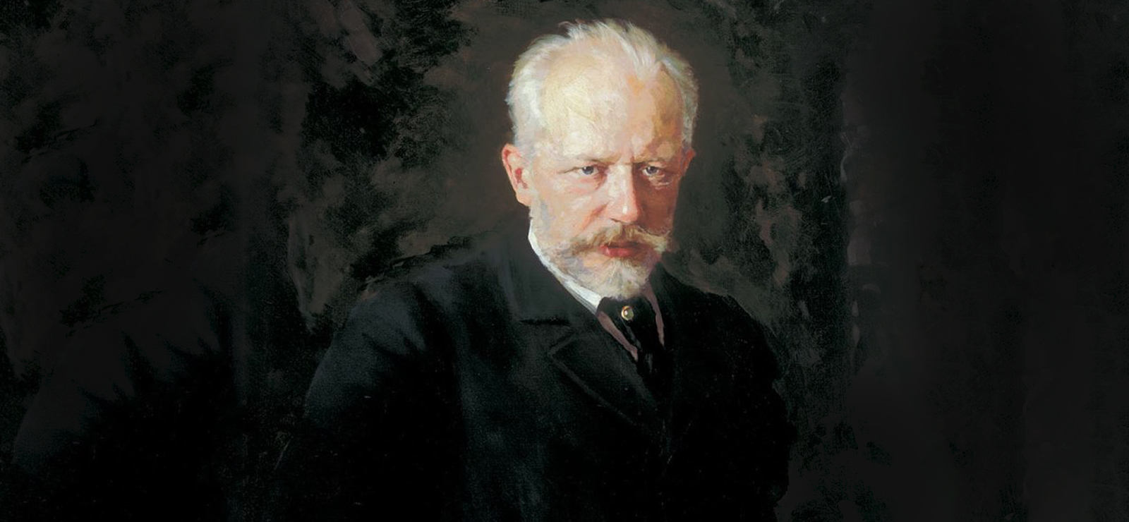 [Program Two: Amateurs and Professionals] Portrait of Pyotr Ilyich Tchaikovsky by Nikolai Kuznetsov; Wikimedia Commons