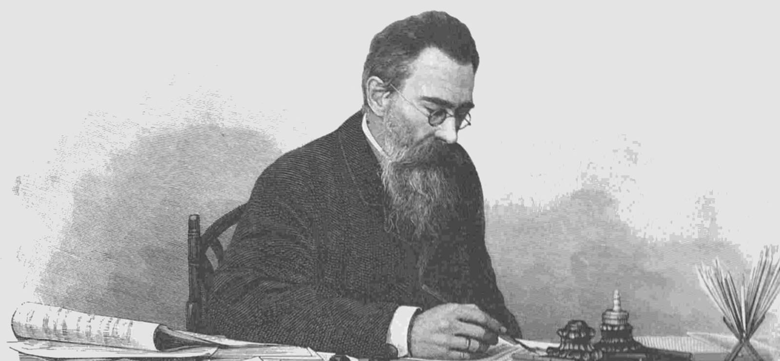 [Program EightDomestic Music Making in Russia] Nikolay A. Rimsky-Korsakov in his cabinet. Wikimedia Commons.