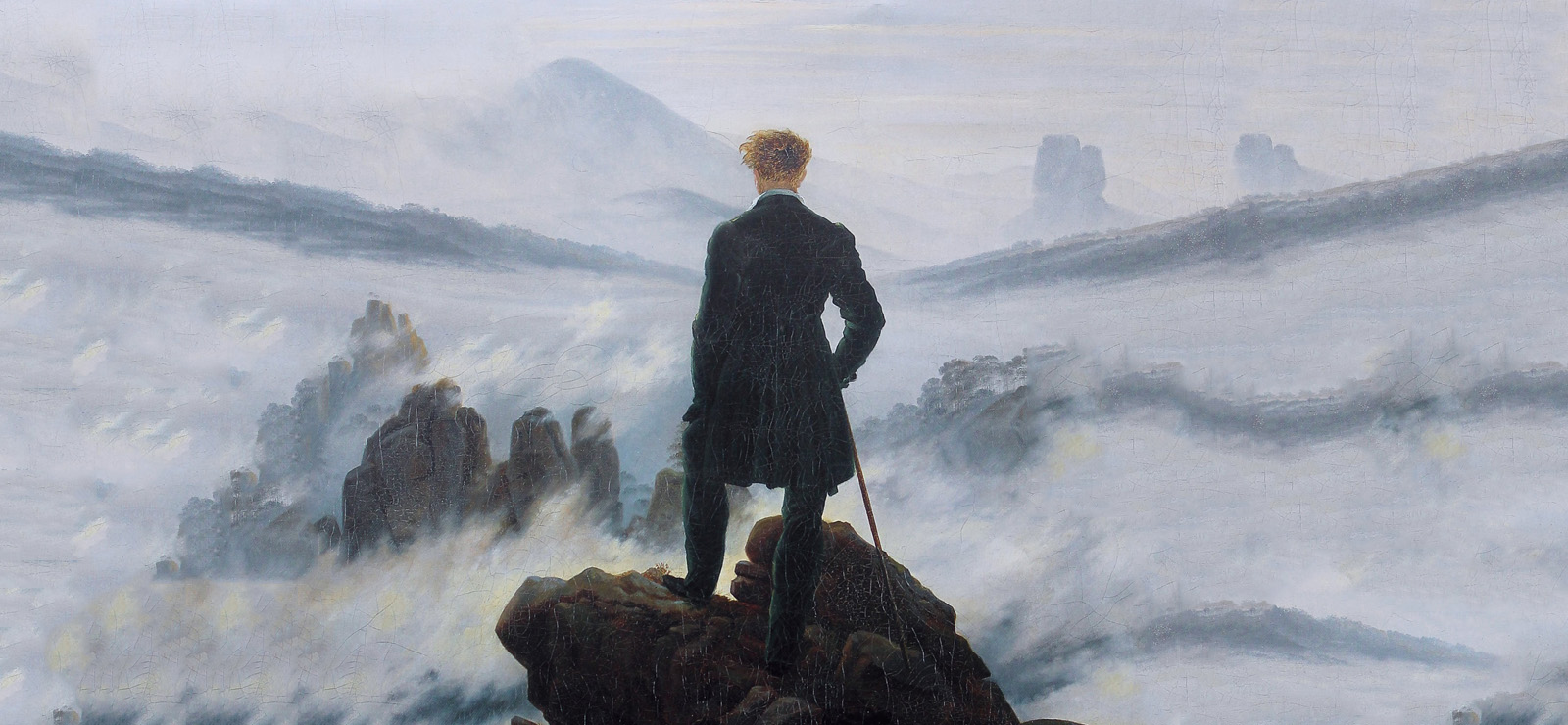 "[Richard Strauss and Nietzsche] ""Wanderer Above the Sea of Fog"" by Caspar David Friedrich (1817); Wikimedia Commons"