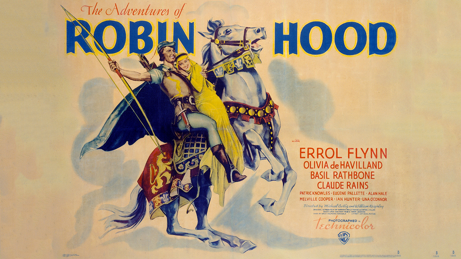 [Program Seven: Robin Hood and Beyond] The Adventures of Robin Hood poster, 1938; ©Warner Brothers/Photofest.