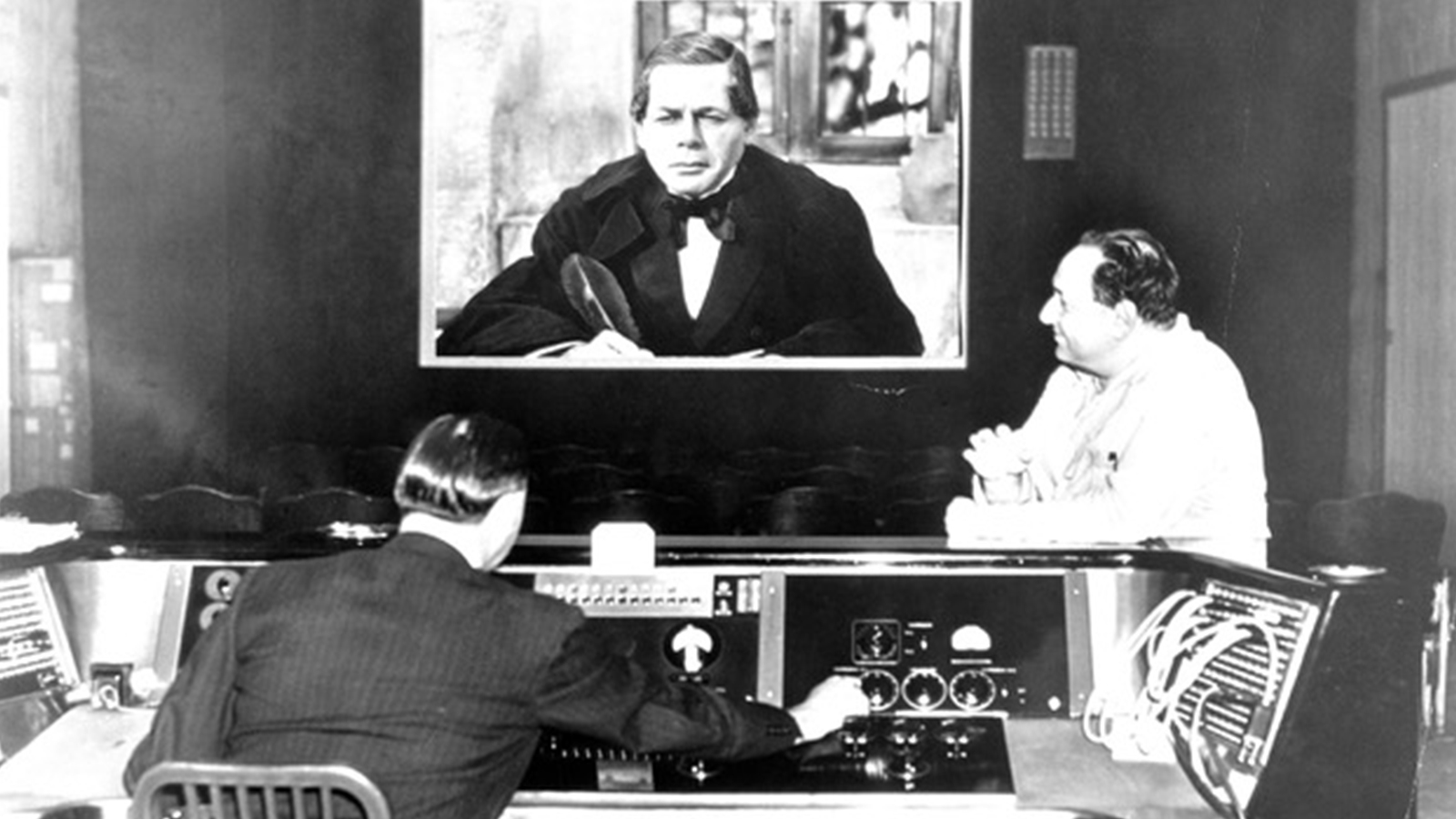 "[Panel Two: Out of Hollywood: Sound Film and the 20th Century] On screen: Paul Muni in ""Juarez,"" dir. William Dieterle, 1939; Korngold Family Collection"
