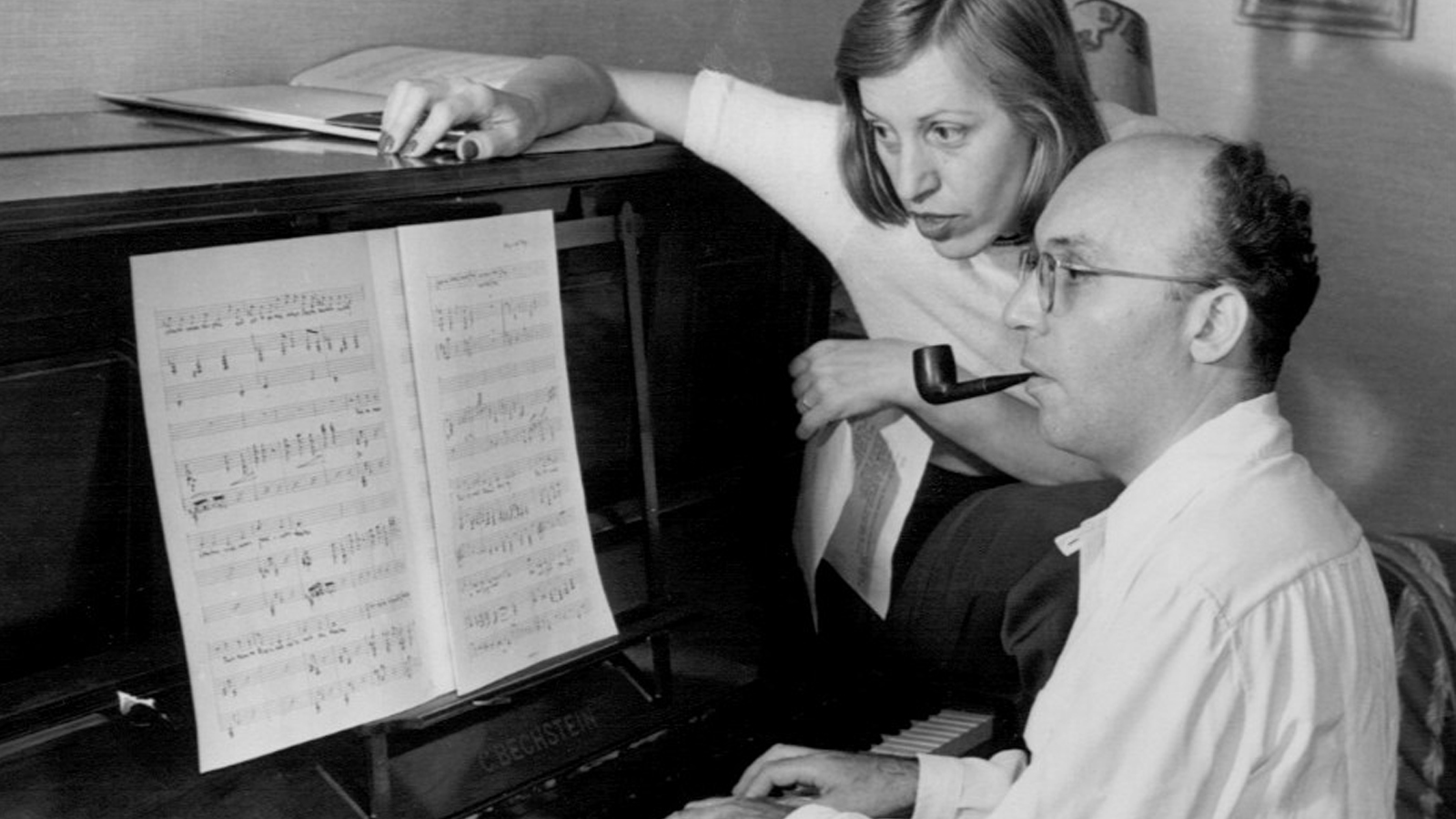 [Program Ten: The American Musical on Stage and Screen] Kurt Weill and Lotte Lenya at home, 1942; Wikipedia Commons