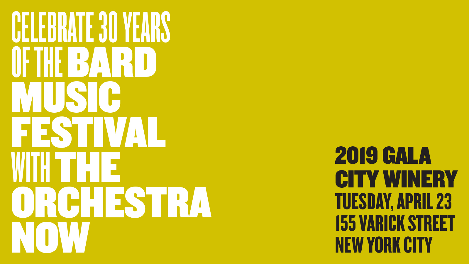 [The Bard Music Festival and The Orchestra Now Join Forces to Celebrate 30 Years of Musical Exploration]
