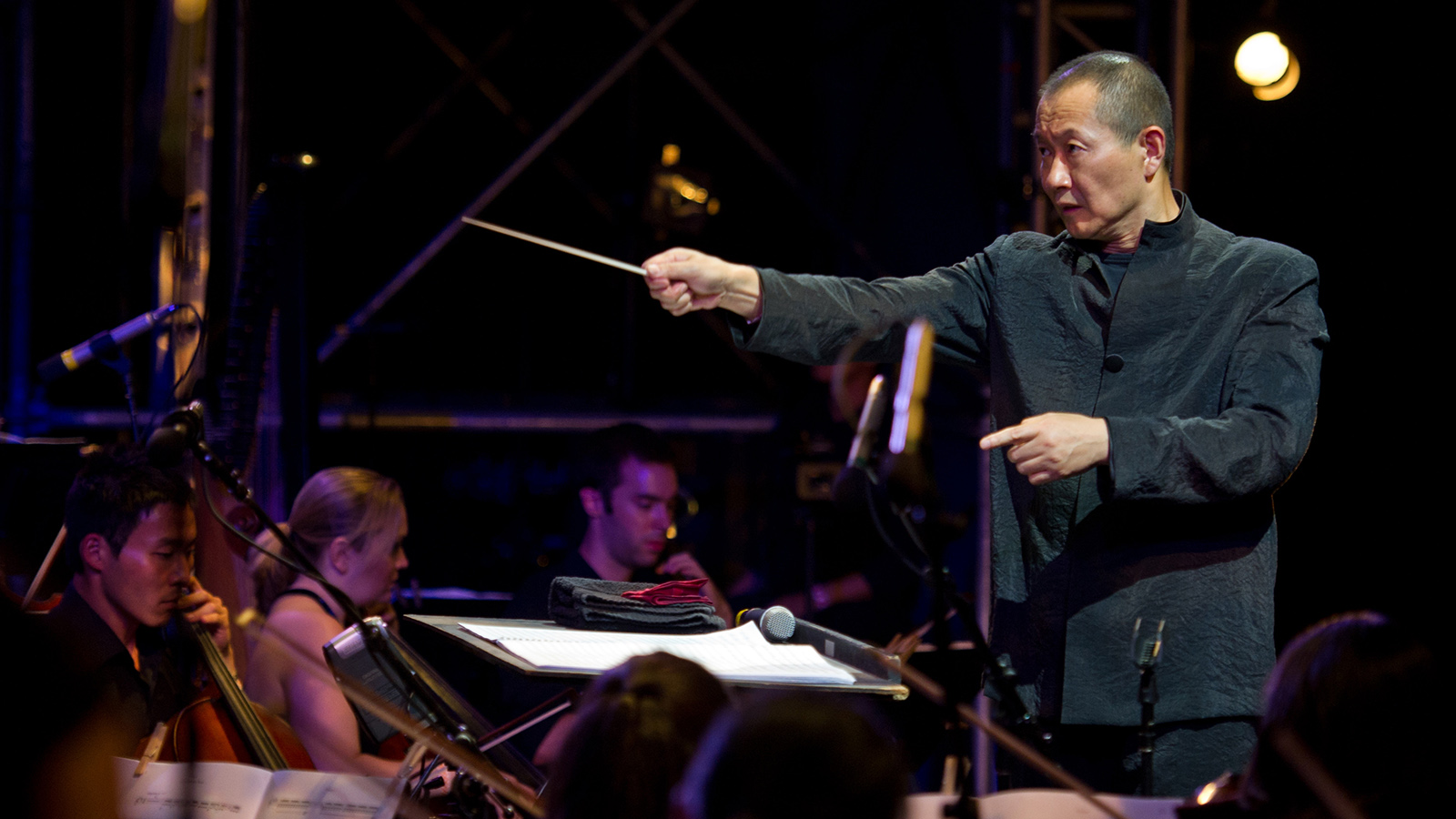 [Lecture: Conservatory Dean and Composer Tan Dun speaking on Music and Film] Photo by Tomasz Wiech