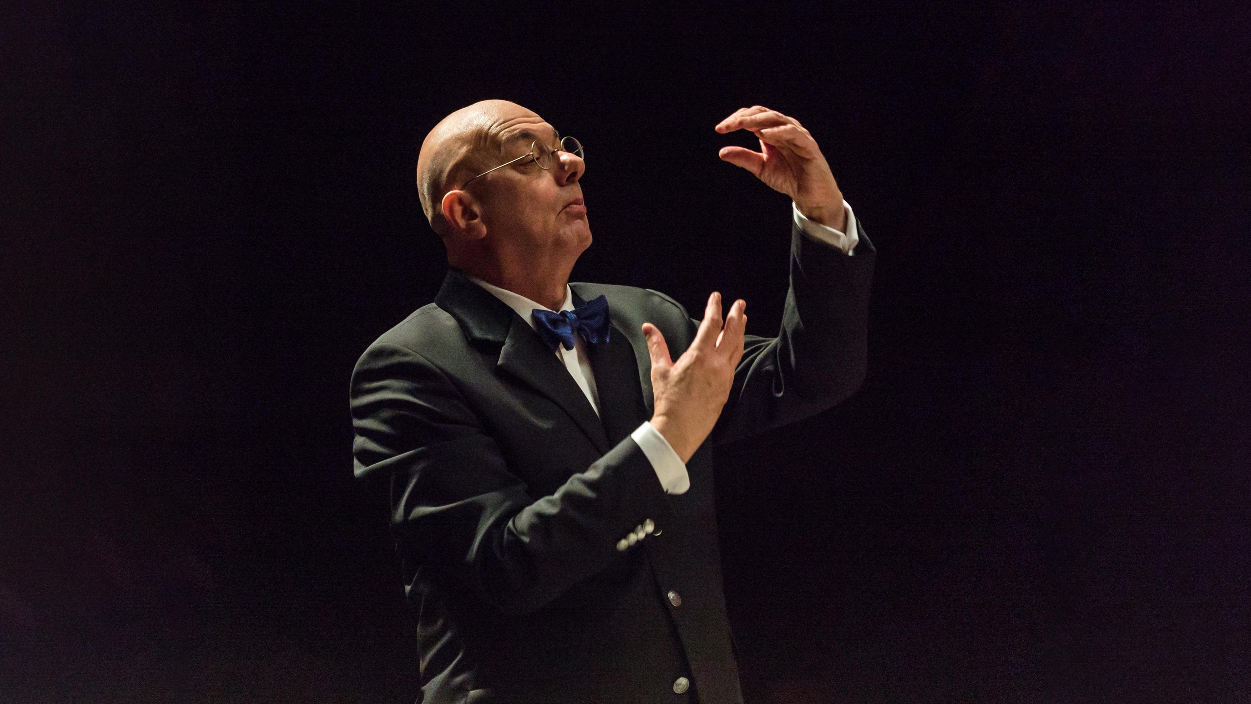[Strauss'Merry Pranks &Bruckner's Fifth] Leon Botstein; photo by Matt Dine