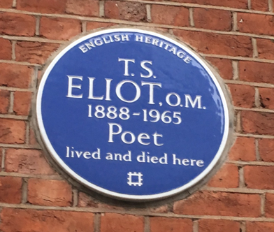 T.S. Eliot flat plaque