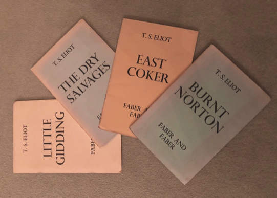 Gideon Lester's undergraduate copies of Four Quartets