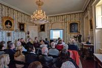 Architectural historian Peter Watson lectures at Montgomery Place: A Window on the World of Alexander Jackson Davis' Architecture and Design, Spring 2018 Salon Series. April 14 – May 5, 2018. Photo by Chris Kendall.