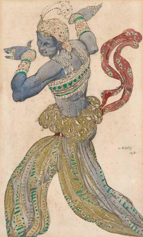Boris Anisfeld, Costume Design for The Underwater Kingdom, Sadko, 1911