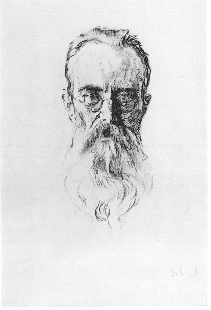 Valentin Serov, Charcoal Portrait of Rimsky-Korsakov, 1908