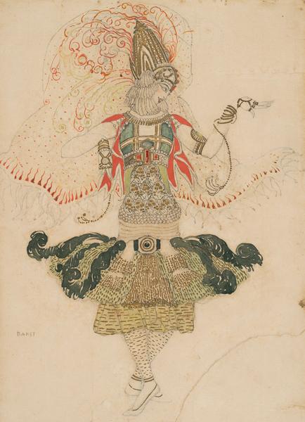 Léon Bakst, Costume design for Tamara Karsavina in Le Festin, 1909