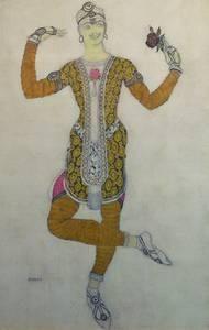 Léon Bakst, Costume design for Vaclav Nijinsky in Le Festin, 1909