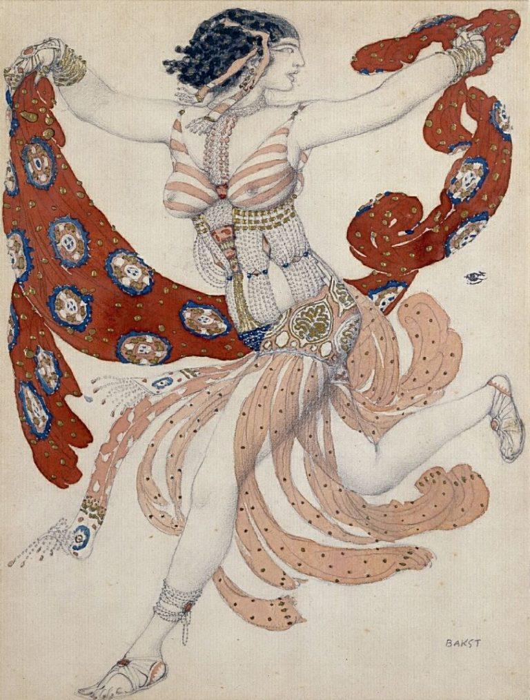 Léon Bakst, Set design for Schéhérazade, 1910