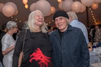 Honorees Helen and Brice Marden at the Bard SummerScape Gala at Montgomery Place, July 14, 2018. Photo by Susan Magnano.