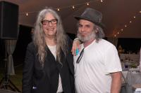 Musician Patti Smith and Jim Chambers '81, Chair of Bard College Board at the Bard SummerScape Gala at Montgomery Place, July 14, 2018. Photo by Susan Magnano.