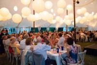 Dinner under the Tent at the Bard SummerScape Gala at Montgomery Place, July 14, 2018. Photo by Susan Magnano.