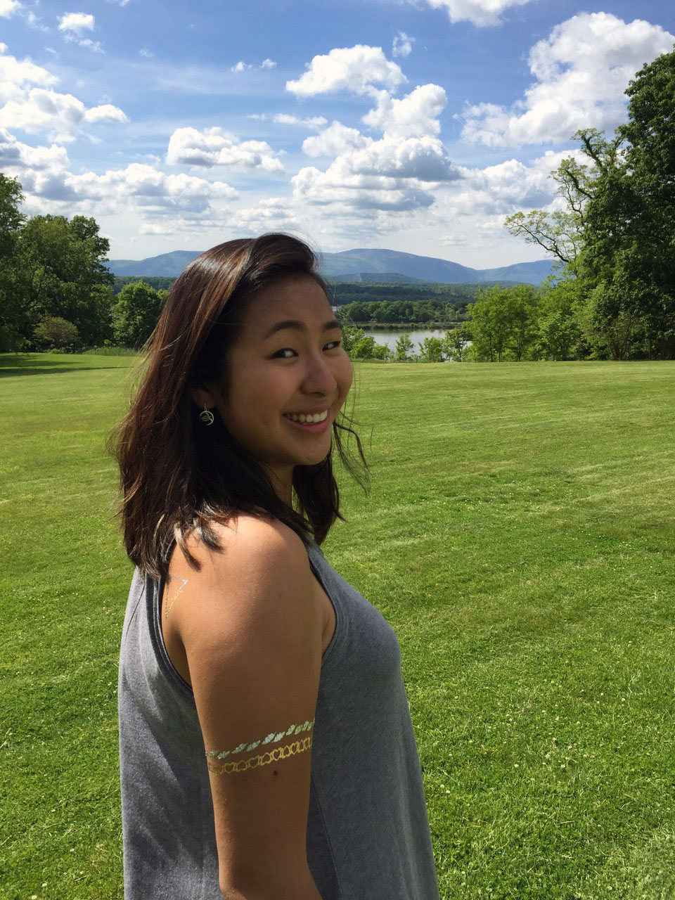Bard College student Sara Xing Eisenberg at Blithewood Manor on the Bard Campus.