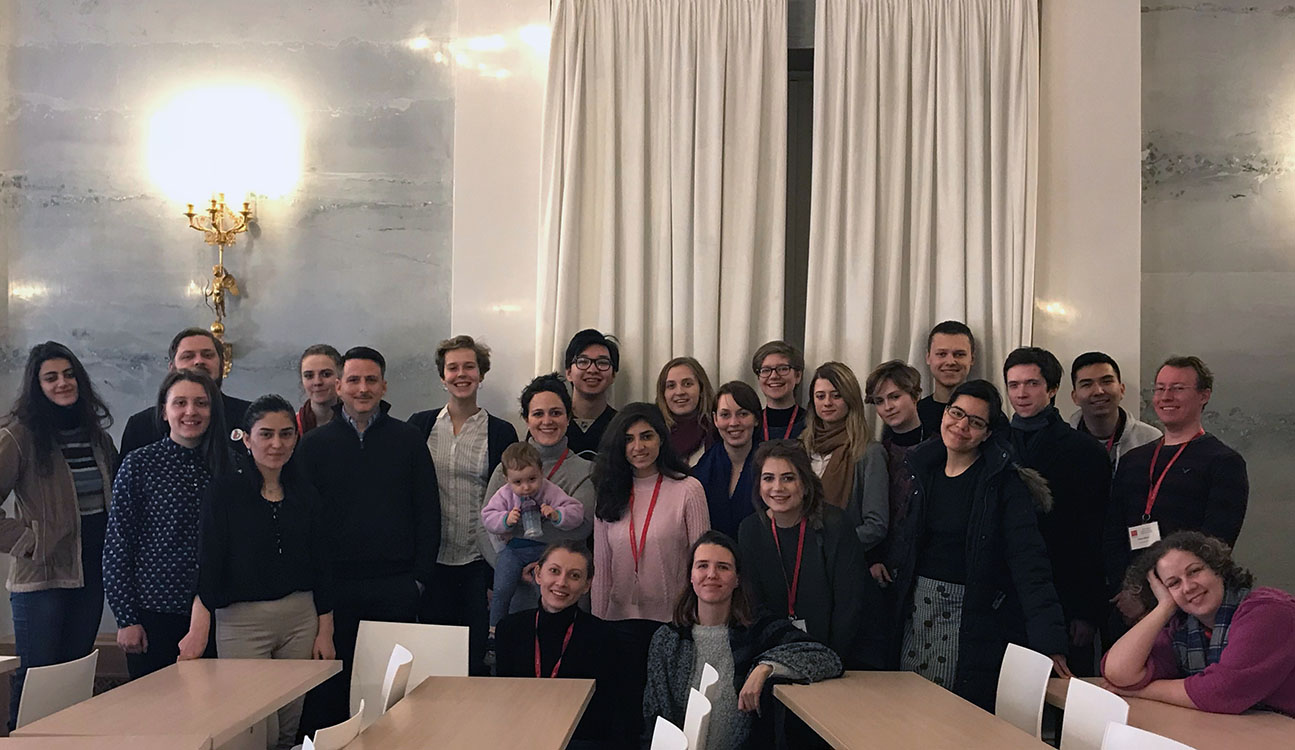 Students and faculty at the Bard Network Debate Conference in St. Petersburg.