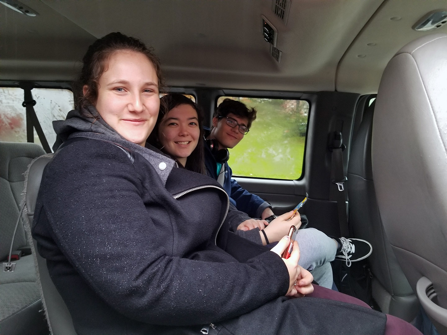 Bard students took the shuttle to the polls in Barrytown.