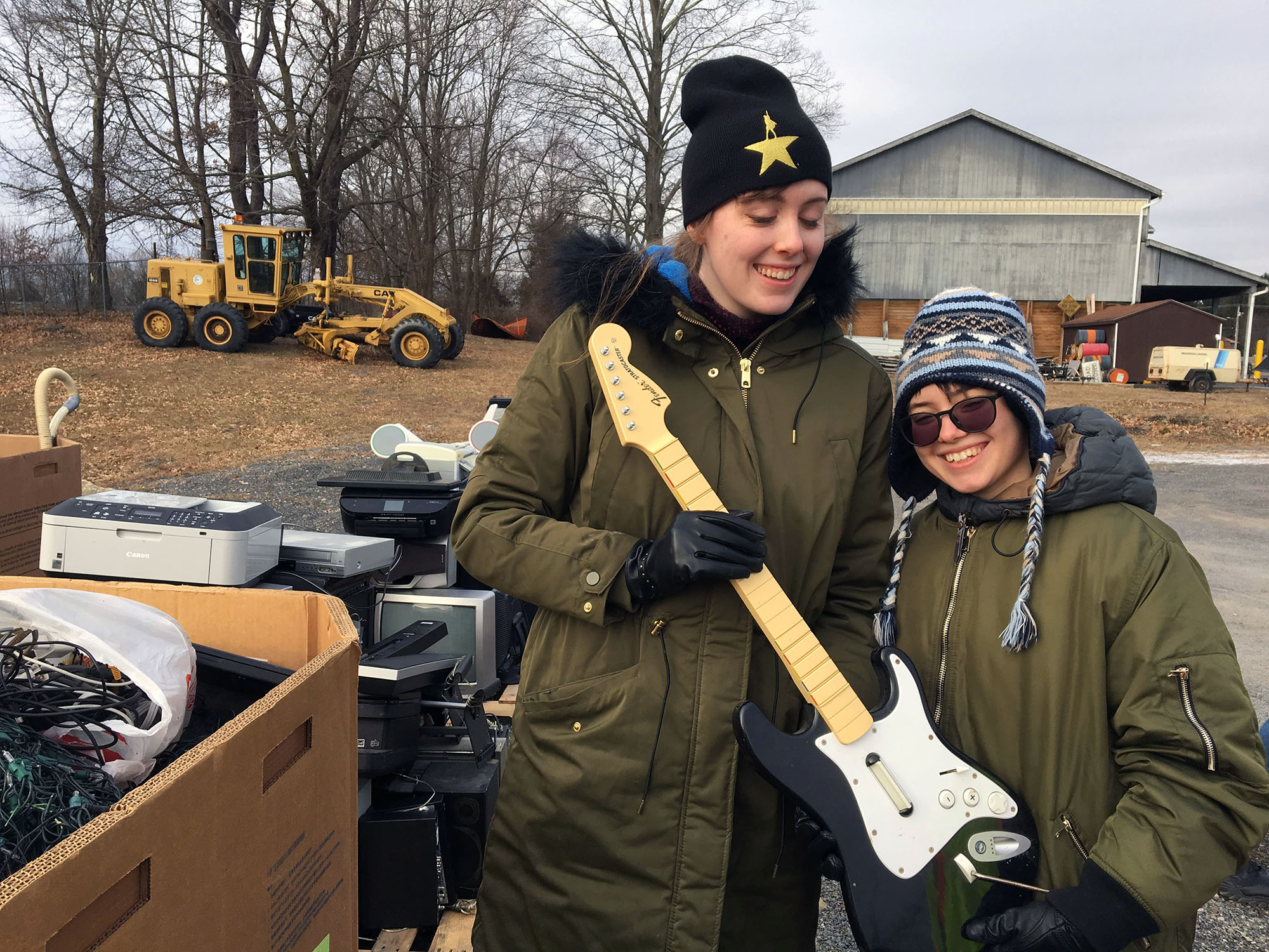 Bard Students volunteer at Red Hook's annual E-Waste Day.