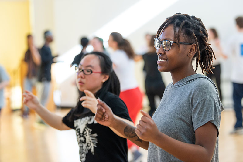 Dance class at Bard College with Cue Arnold 2019