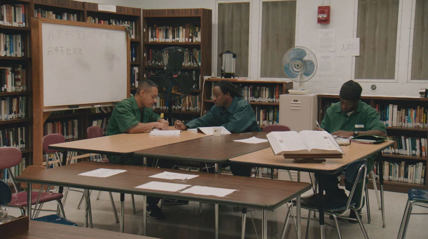 BPI students study in the library. (Skiff Mountain Films)