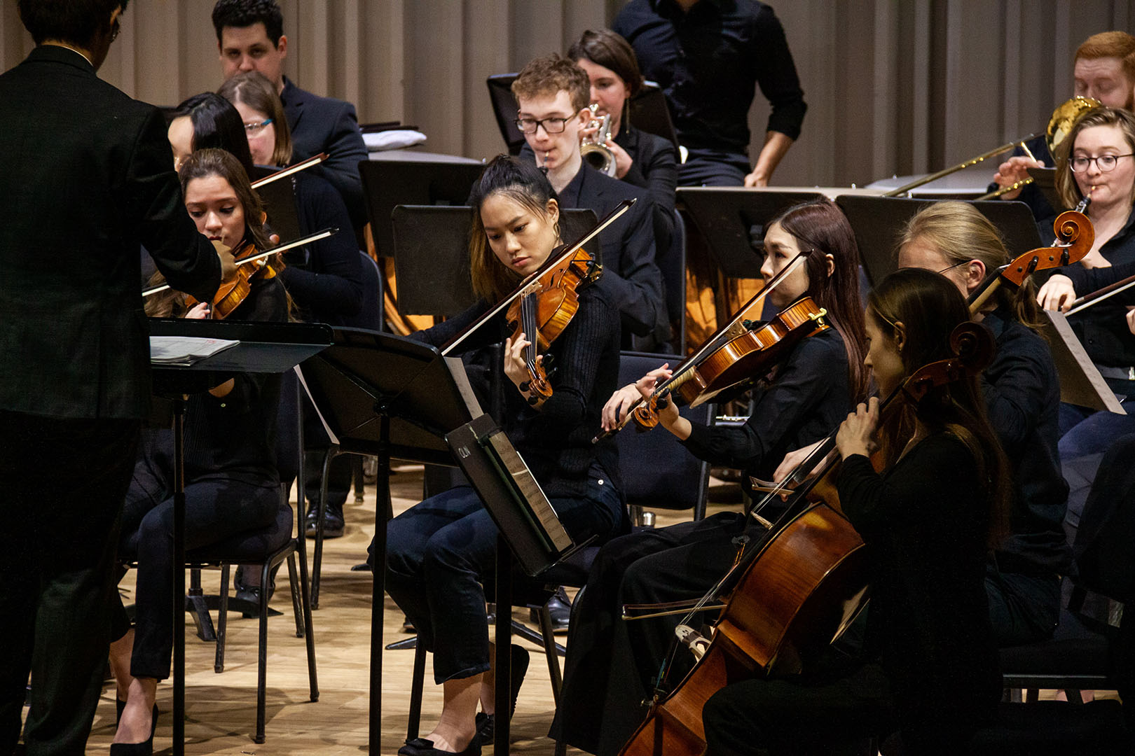 Orchestra performs at the Bard Benefit Concert for the Coronavirus. Photo by& Rock Huang '20