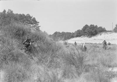 "An-My Lê / Marian Goodman Gallery. ""Sniper I,"" 1999–2002, from ""Small Wars."""