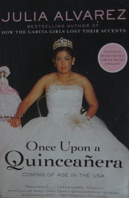 "Portada de ""Once upon a quinceañera"", por Julia Álvarez"