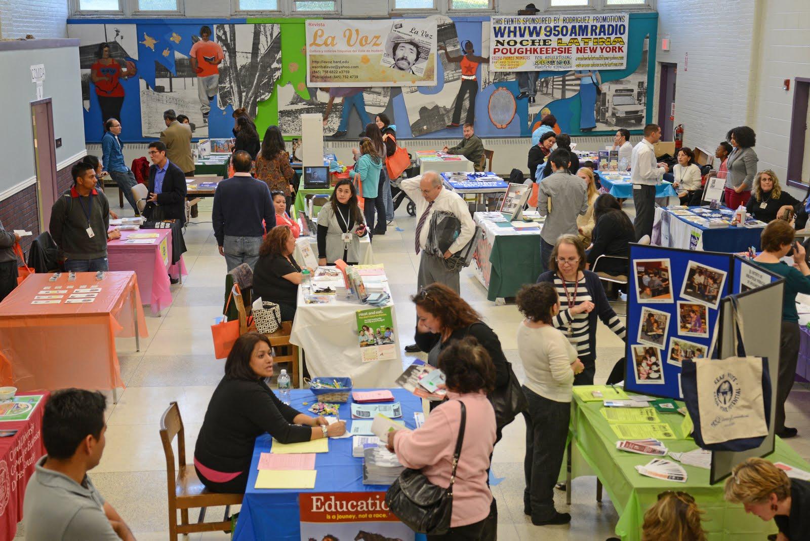 Una imagen de la Feria de Recursos en el Family Partnership Center. Foto de Jay Lawrence.