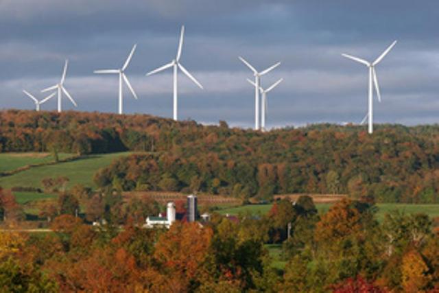 Imagen de Maple Ridge Wind Farm. Crédito de foto: National Renewable Energy Lab