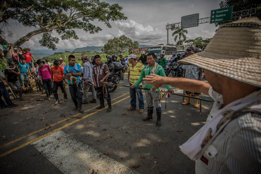 Paro agrario en Colombia, foto de Edison Sánchez.