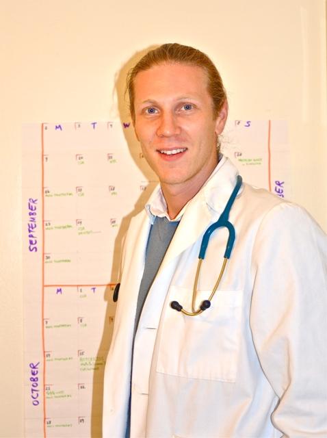 El flamante doctor Jonas Telson. Foto de Antonio Flores-Lobos