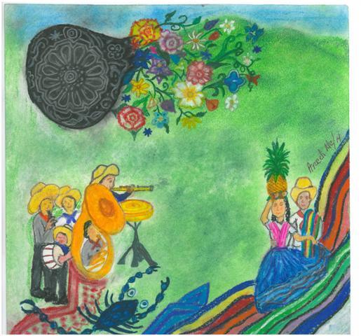 Ilustración de la portada de La Voz de julio 2014 por Araceli Muñoz