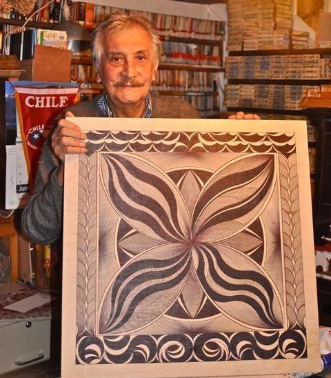 El artista chileno Manuel Guerra. Foto de Antonio Flores-Lobos