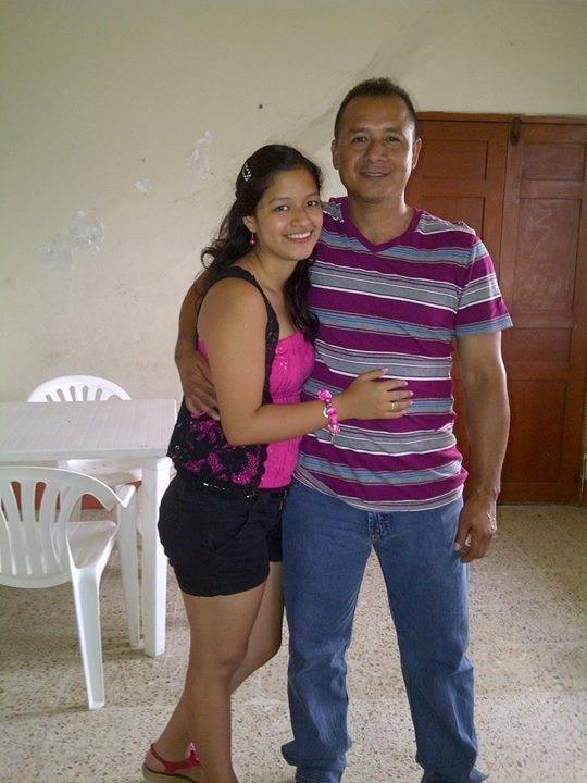 Evelyn y su papá