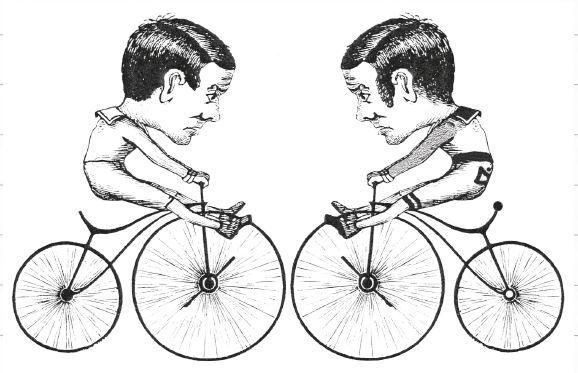 Ciclista en el espejo: ¡encuentra las 10 diferencias!