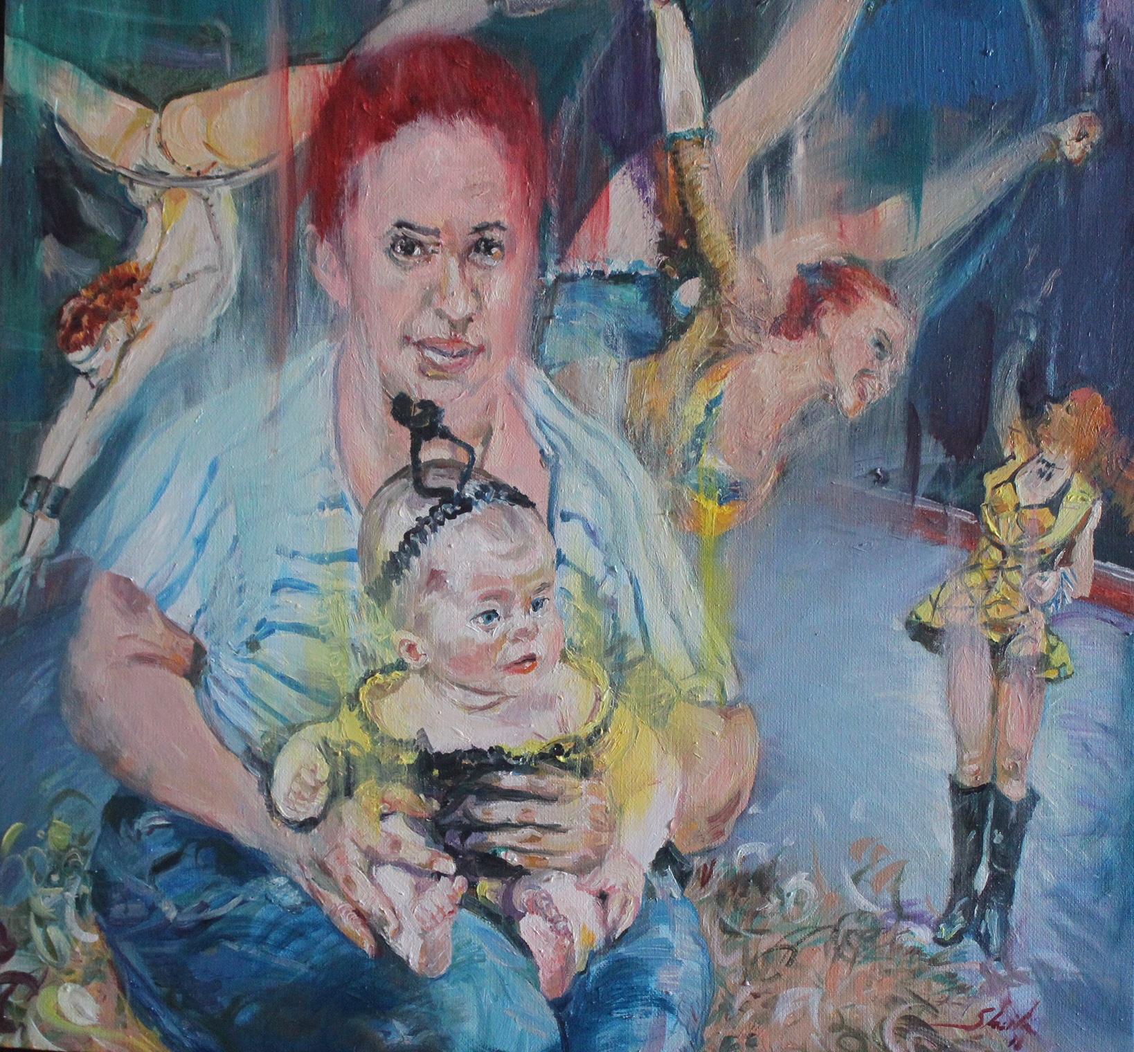 Mujeres de circo, por la artista cubana Sheila Fraga.
