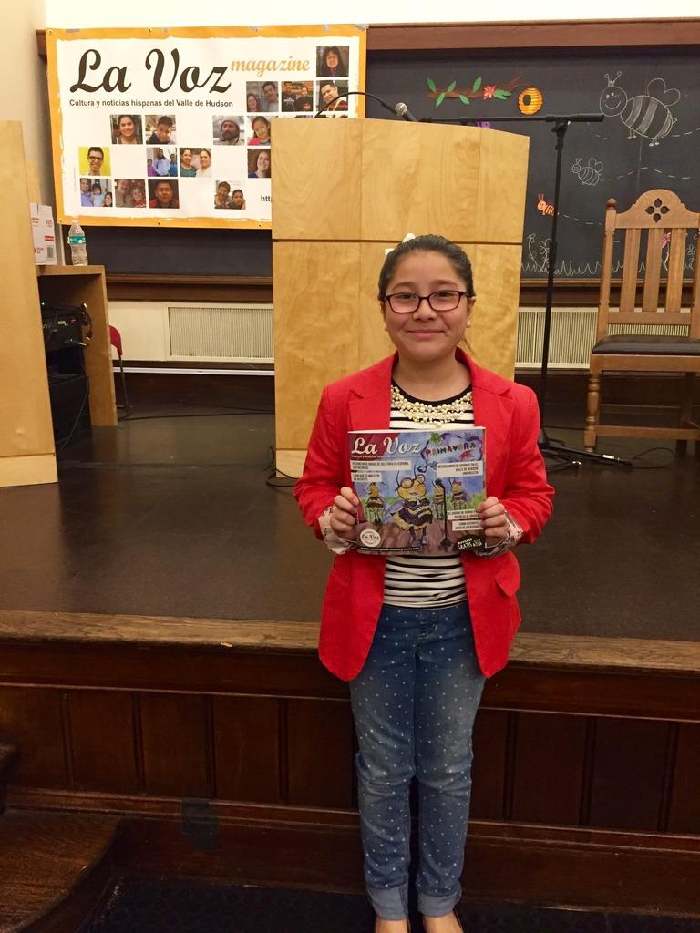 Camila Ortiz, ganadora de la categoría cuarto y quinto grado. Foto de Julieth Núñez