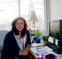 Tatiana Rojas desde su oficinaen la escuela secundaria de Kingston. Foto de Antonio Flores-Lobos