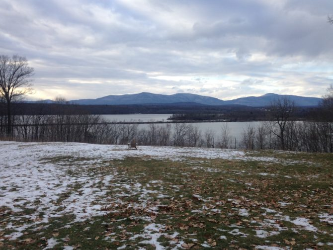 <em>View of the Hudson River during the winter, photo by Natalie Schuman. </em>