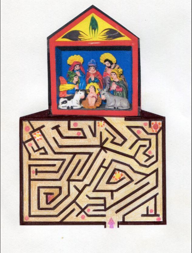 Encuentra en este laberinto el camino al bel&eacute;n de arte folcl&oacute;rico de Per&uacute;.<br />&nbsp;