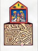 Encuentra en este laberinto el camino al belén de arte folclórico de Perú.<br />