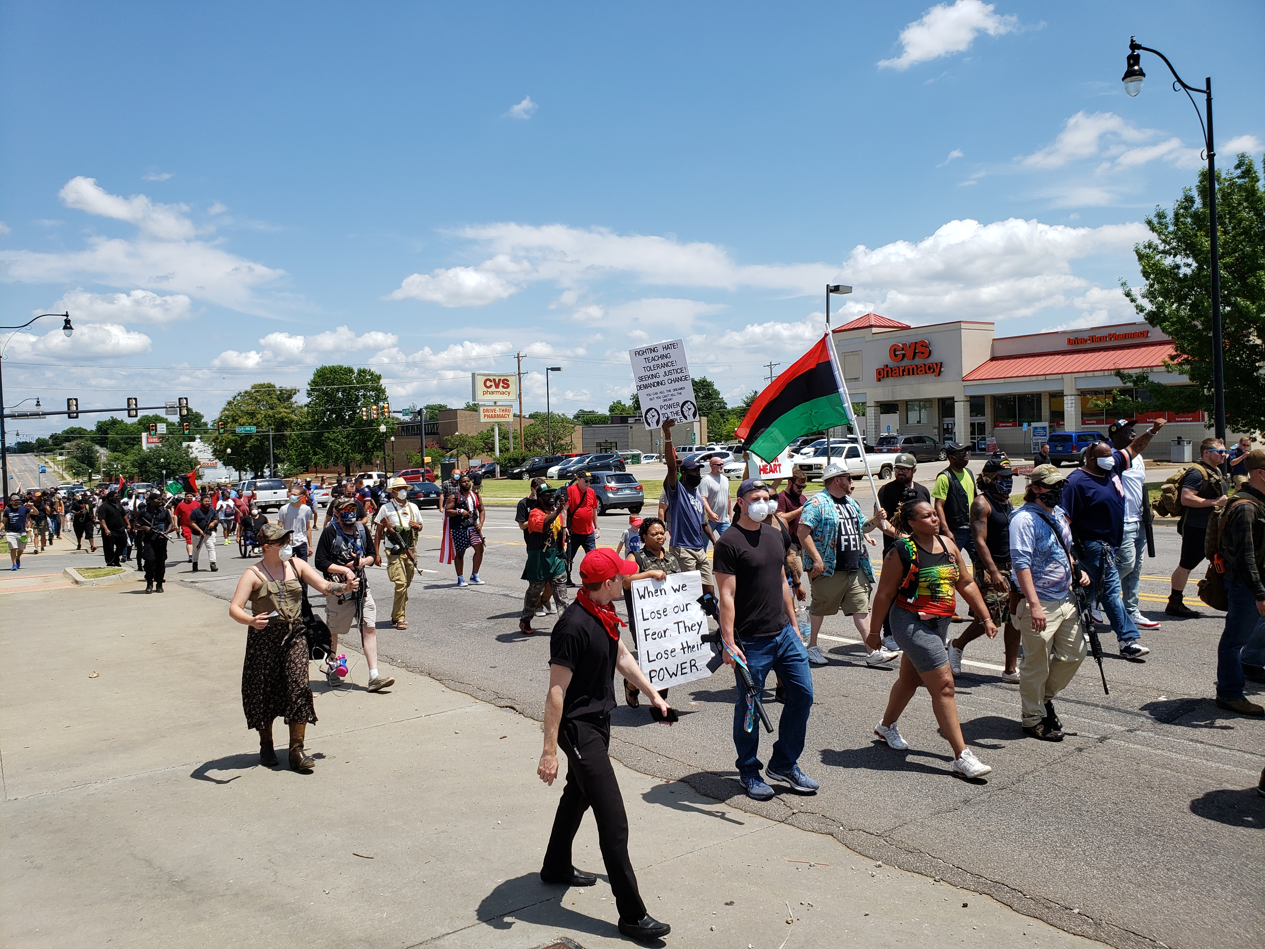 Peaceful Protest in OK Against Police Brutality, photo by Mark L. Friedman