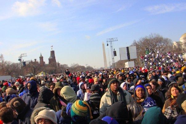 El día de la toma de poder del presidente Obama, Washington, DC.